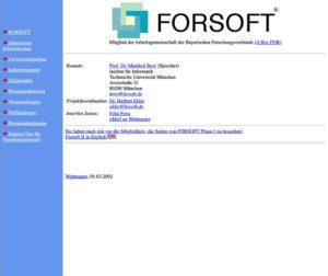 Archiv Forsoft Projekt