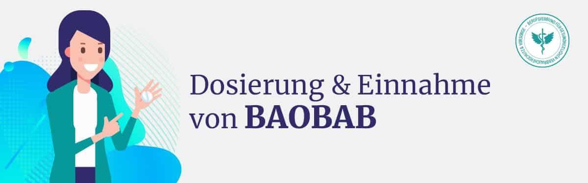 Dosierung und Einnahme Baobab
