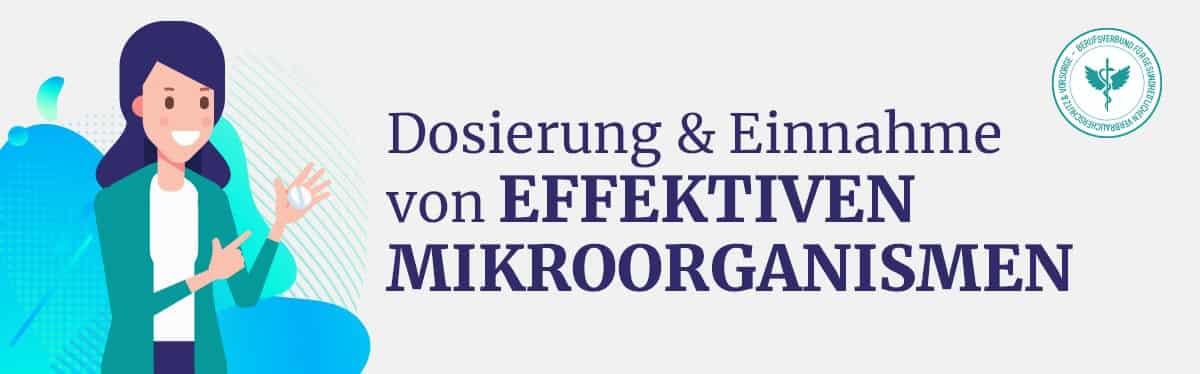 Dosierung und Einnahme Effektive Mikrooganismen