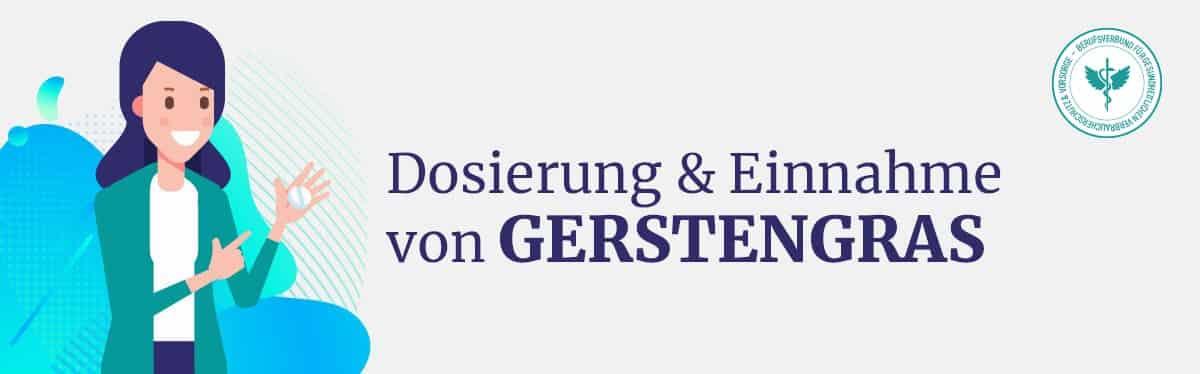 Dosierung und Einnahme Gerstengras