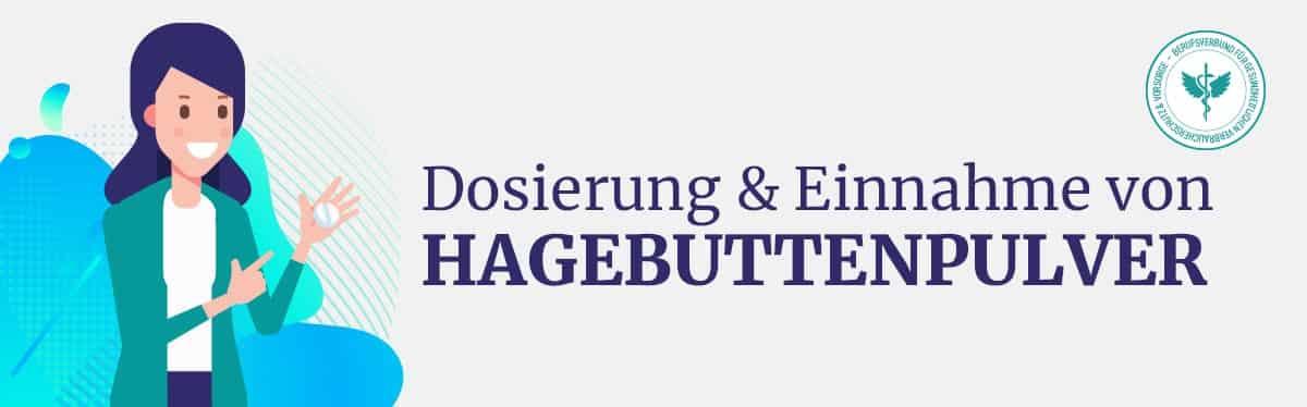 Dosierung und Einnahme Hagebuttenpulver