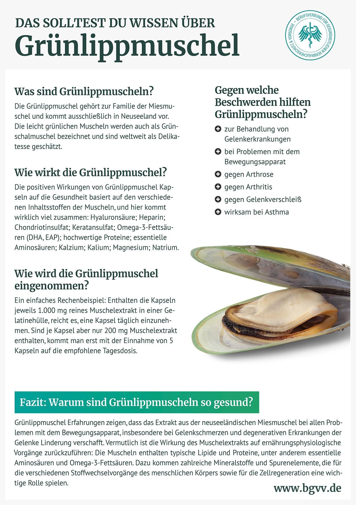 Infografik Grünlippmuschel BGVV