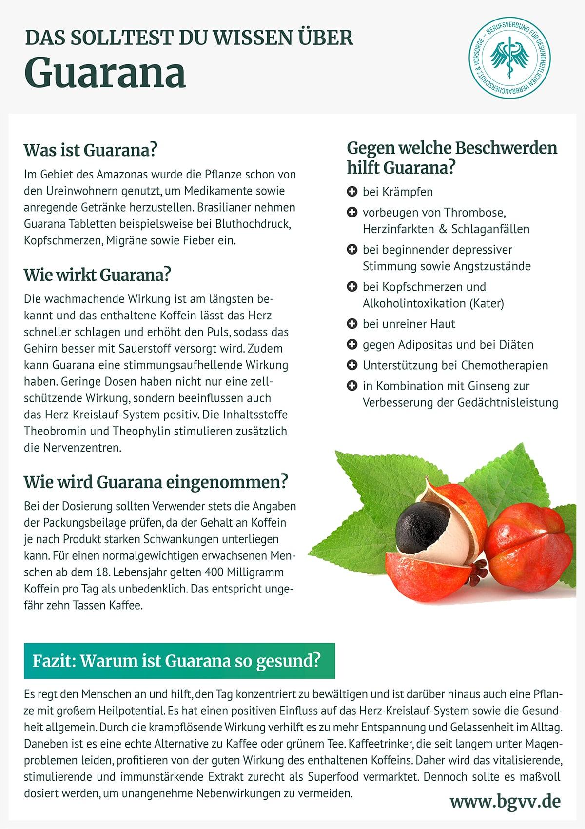 Infografik Guarana bgvv