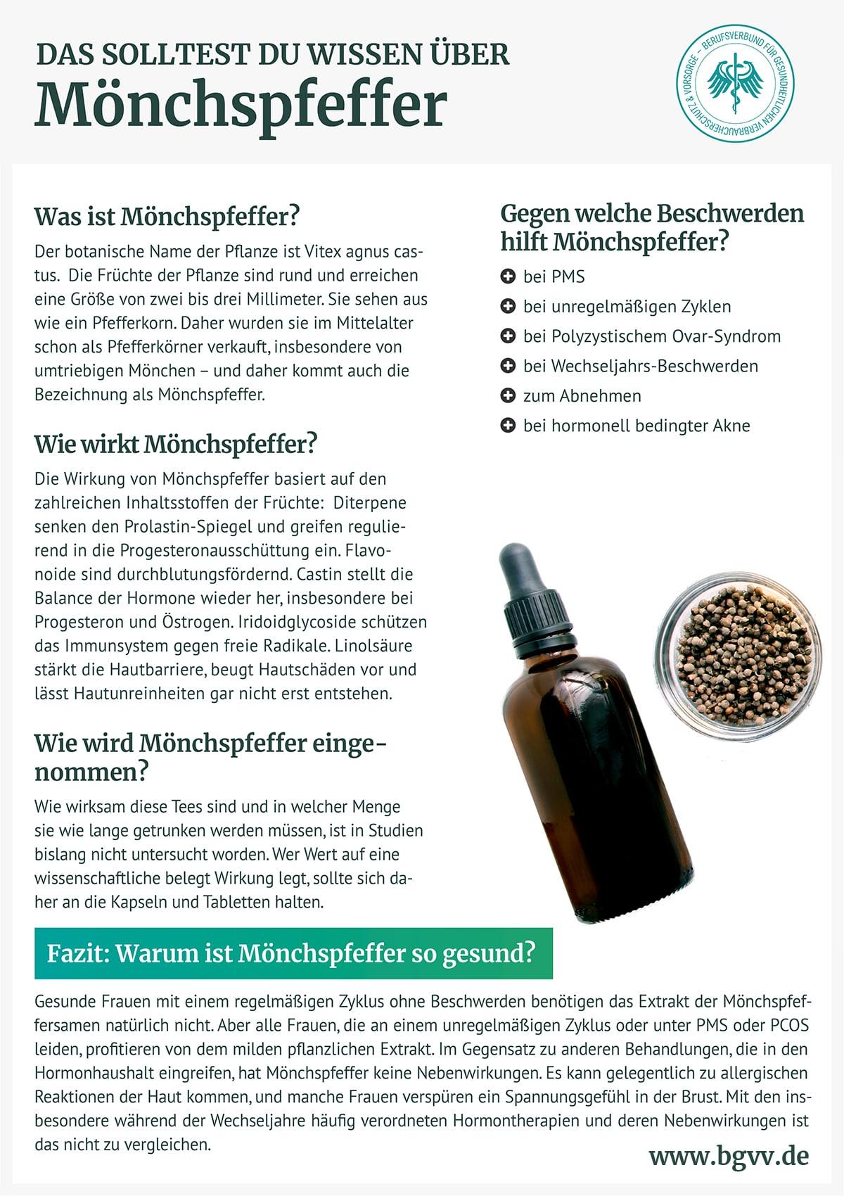 Infografik Mönchspfeffer bgvv
