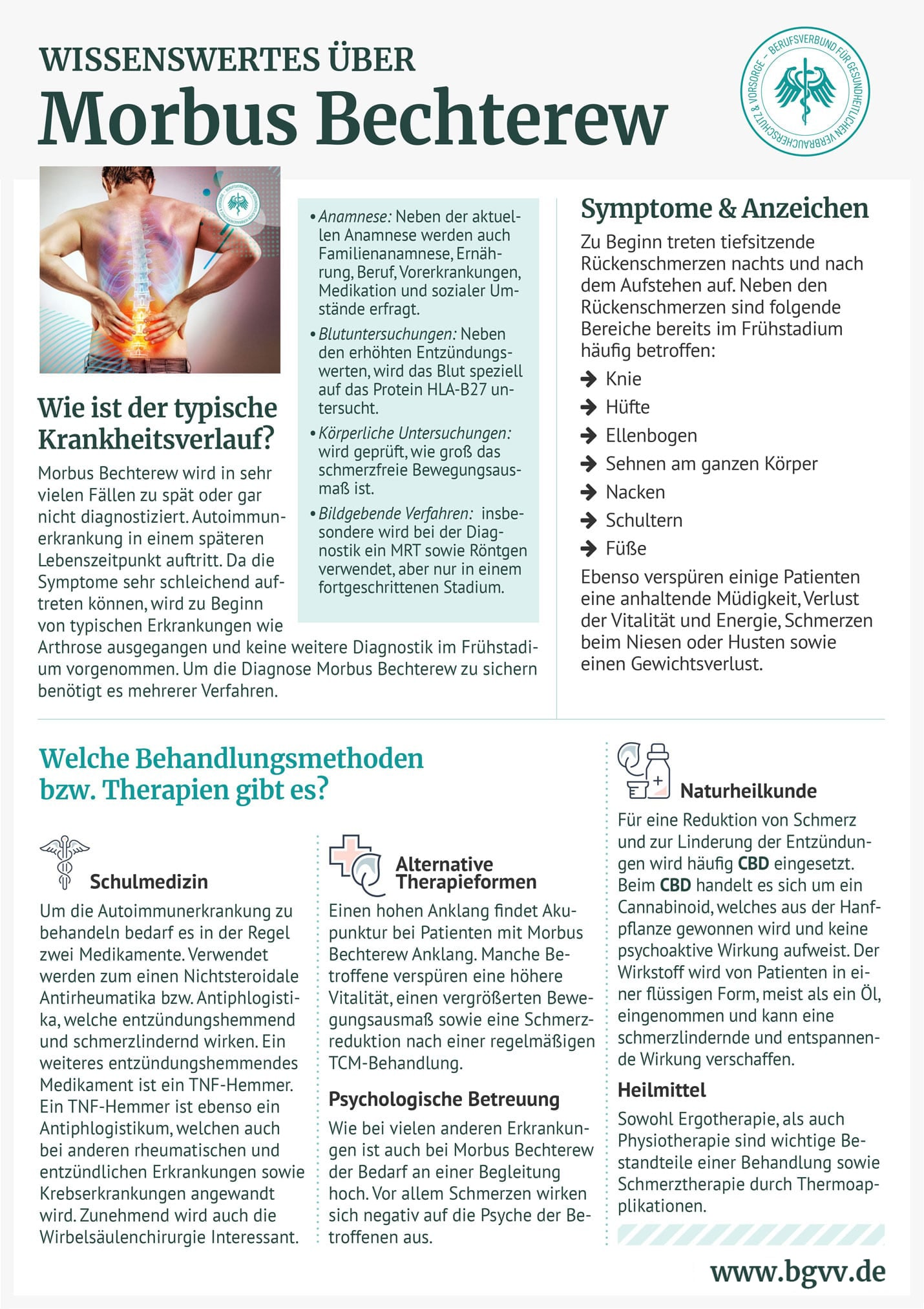 Infografik Morbus Bechterew bgvv