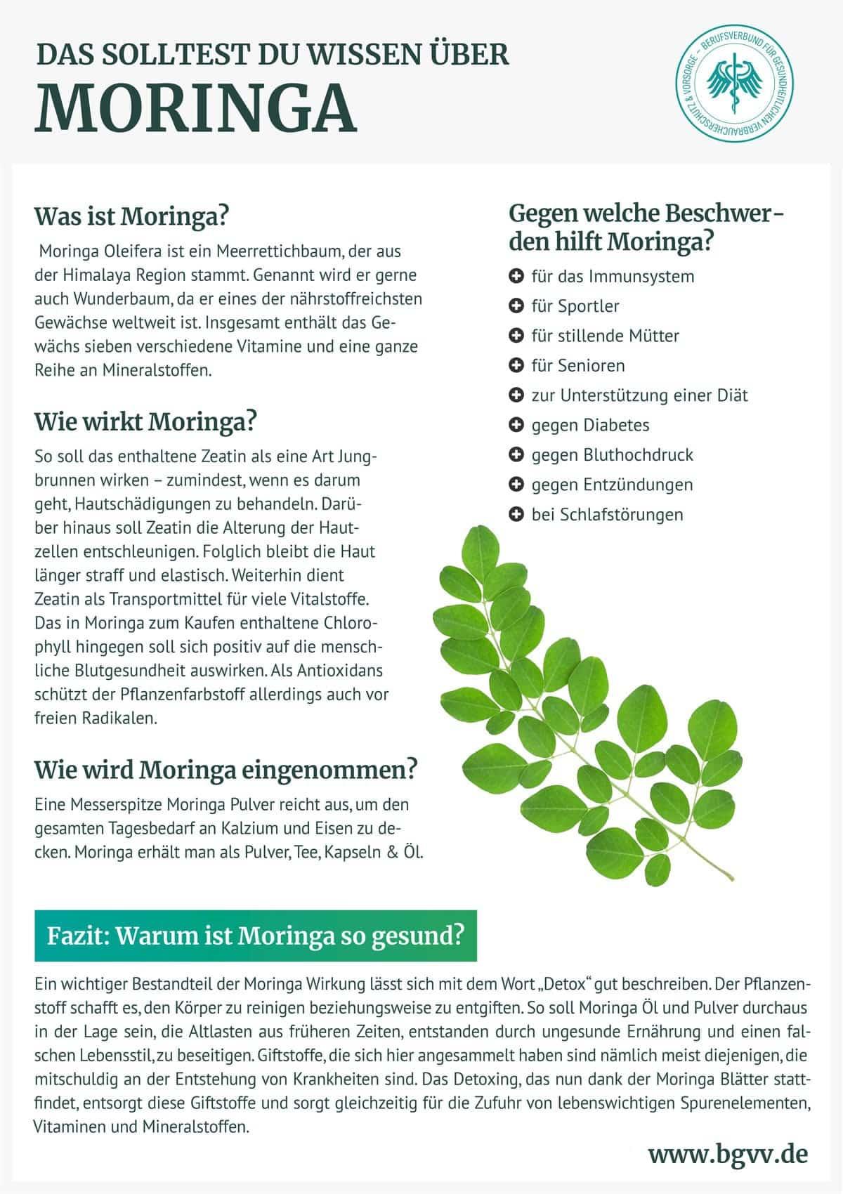 Bgvv Moringa Infografik