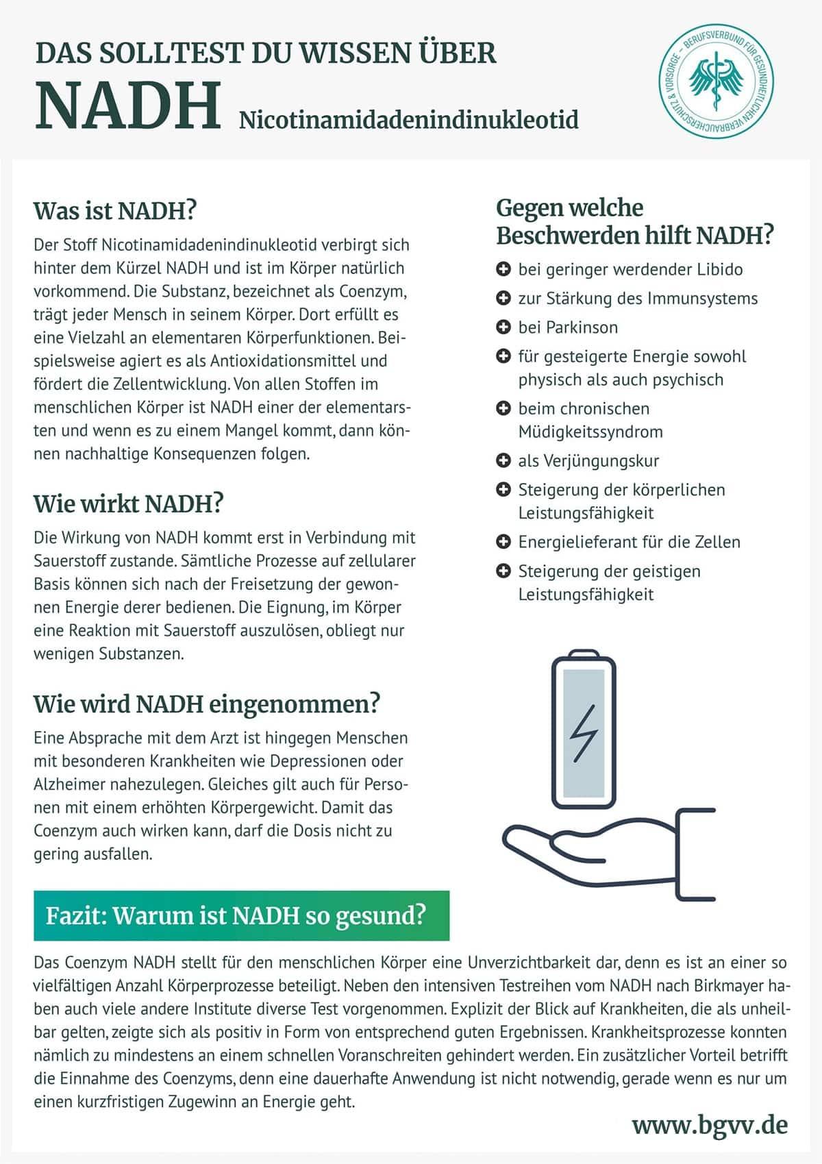 Infografik NADH BGVV