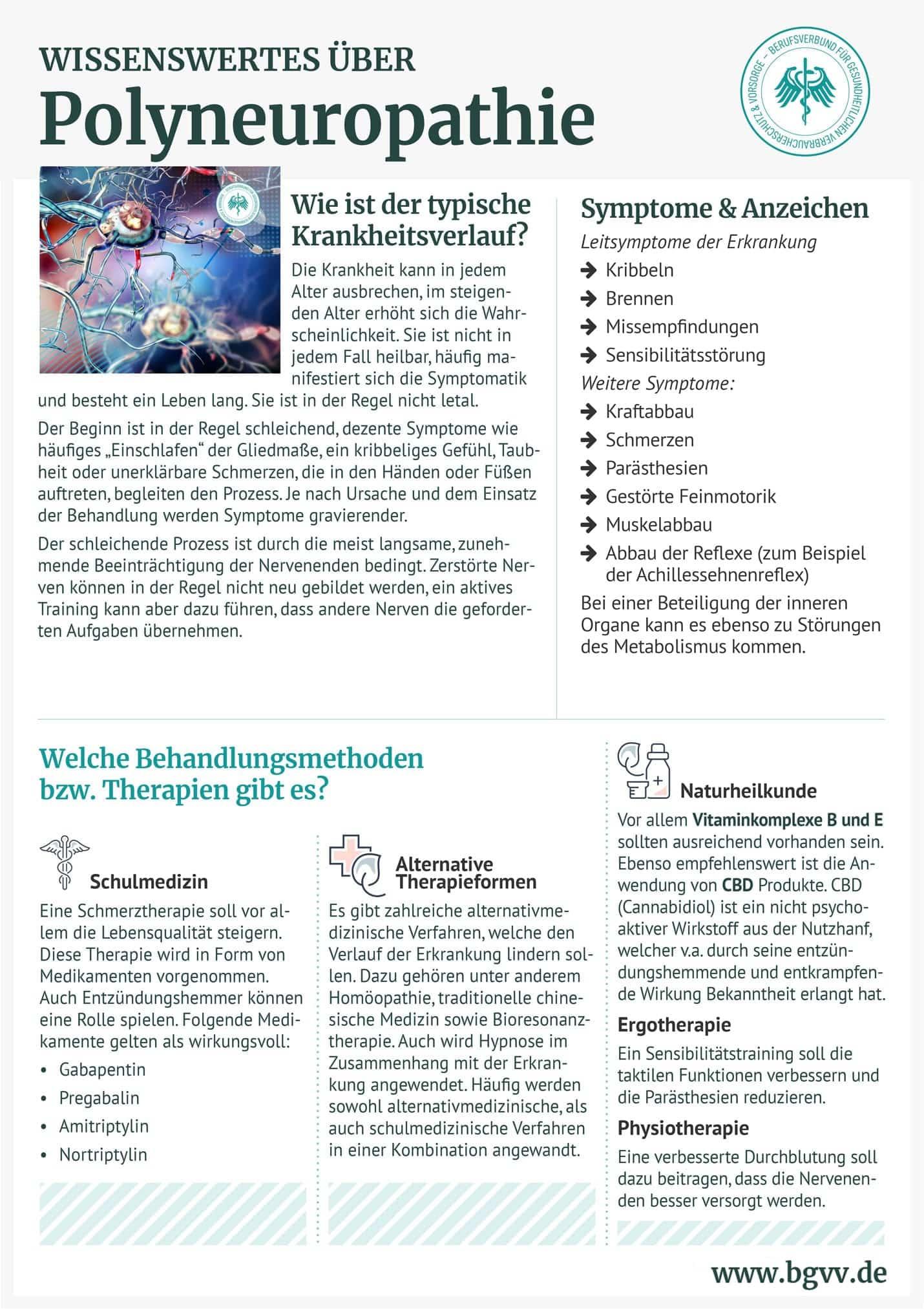 Infografik Polyneuropathie bgvv