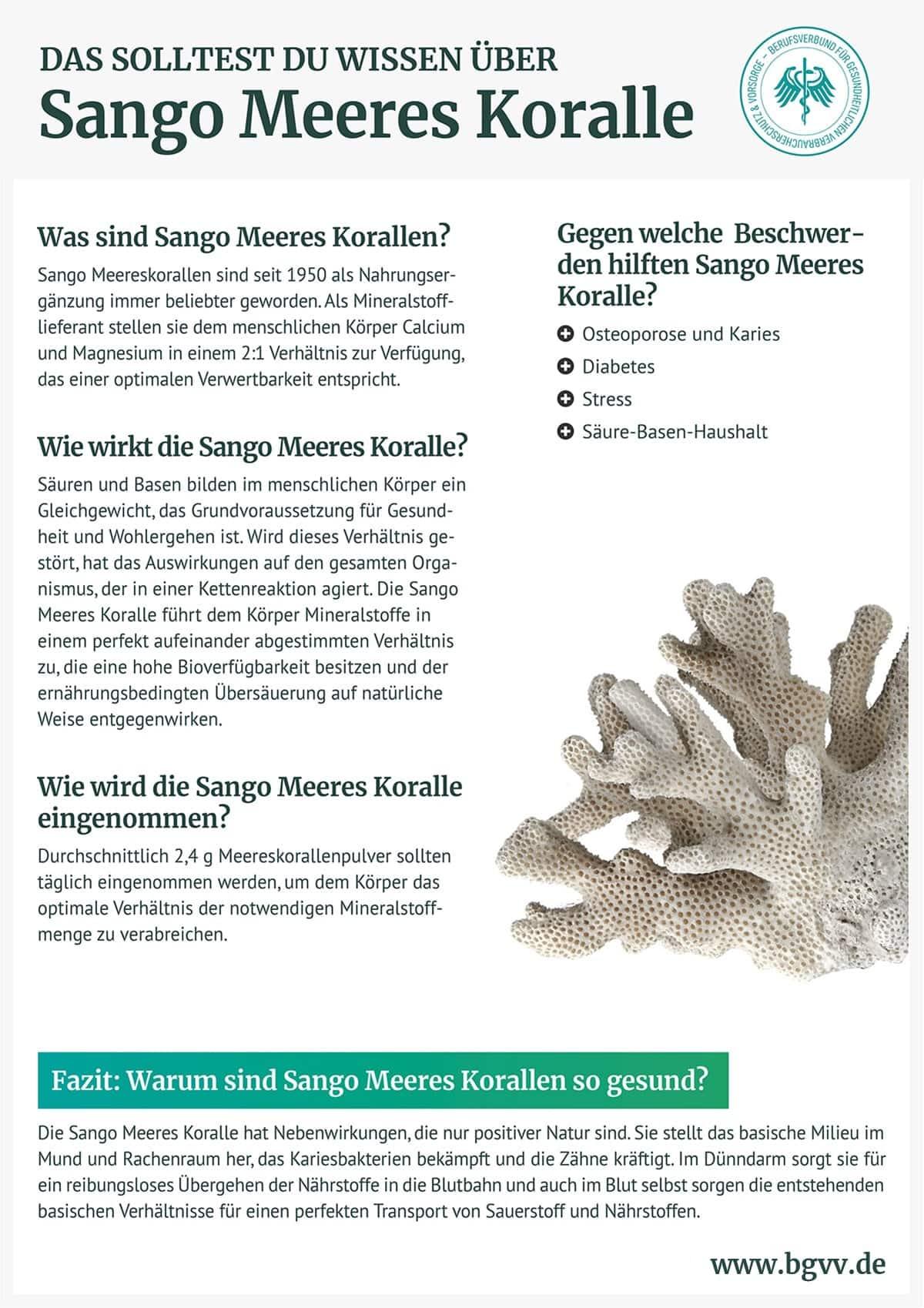 Infografik Sango Meeres Koralle BGVV
