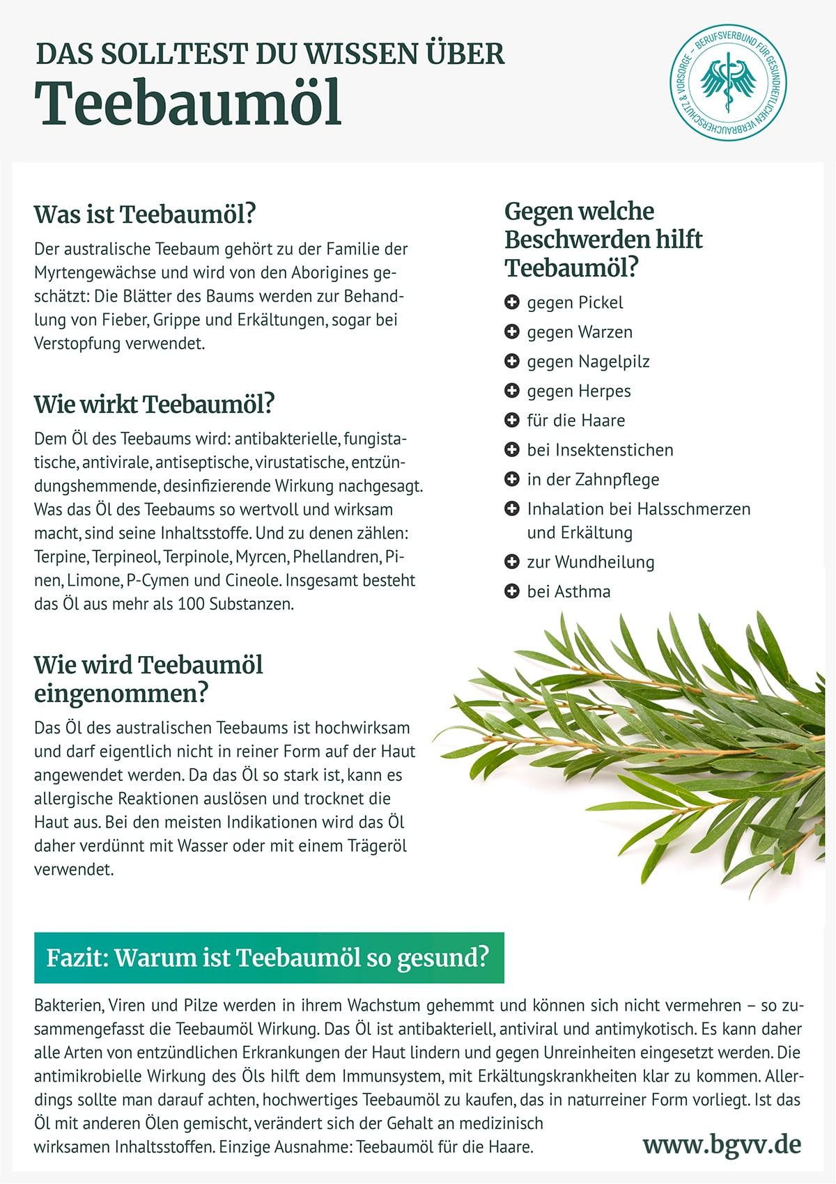Infografik Teebaumöl bgvv