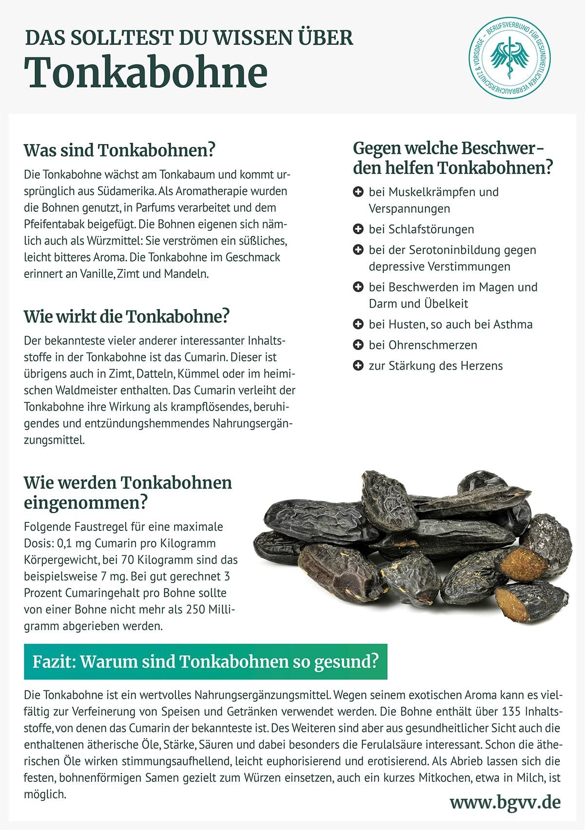 Infografik Tonkabohne bgvv