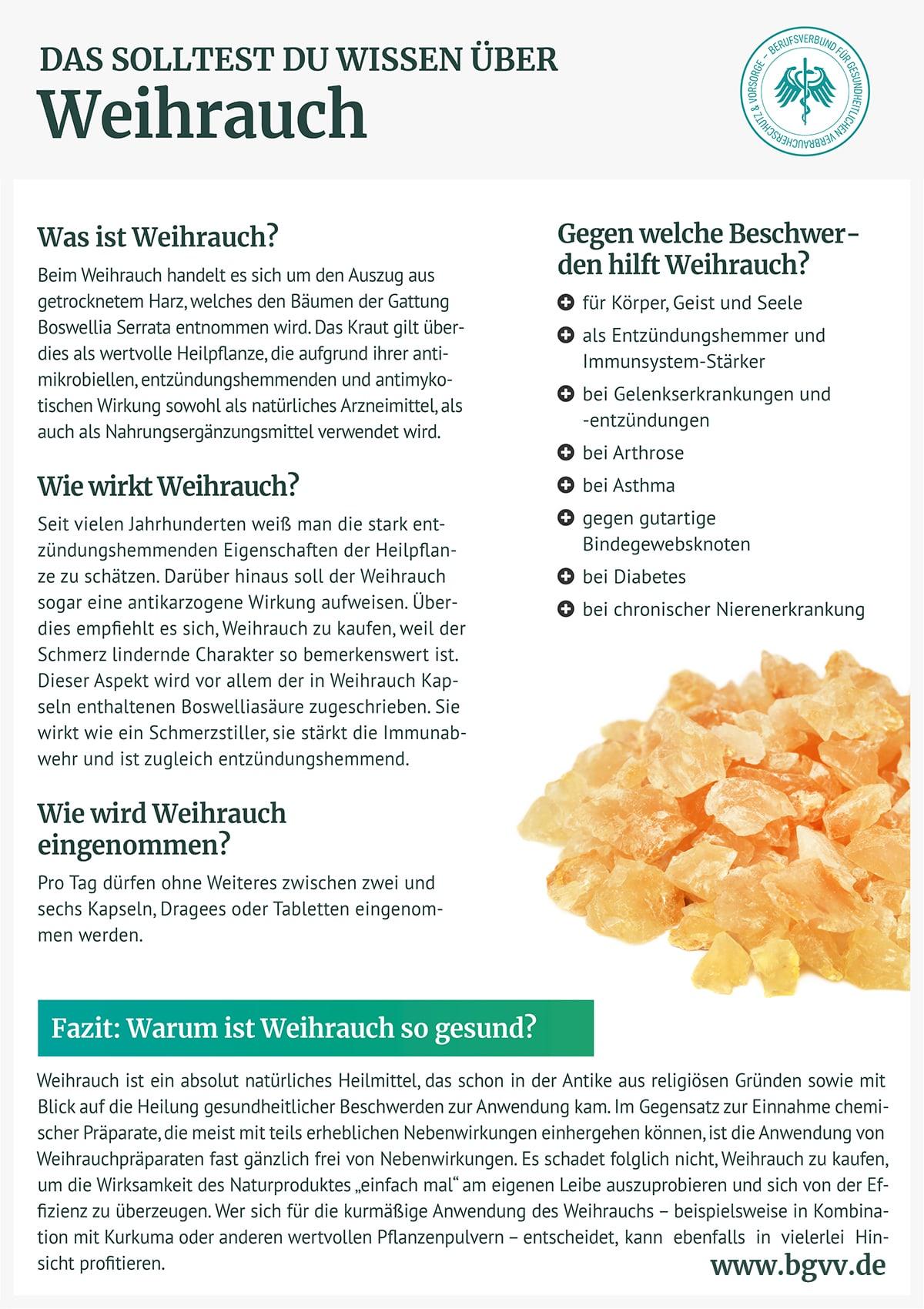 Infografik Weihrauch bgvv