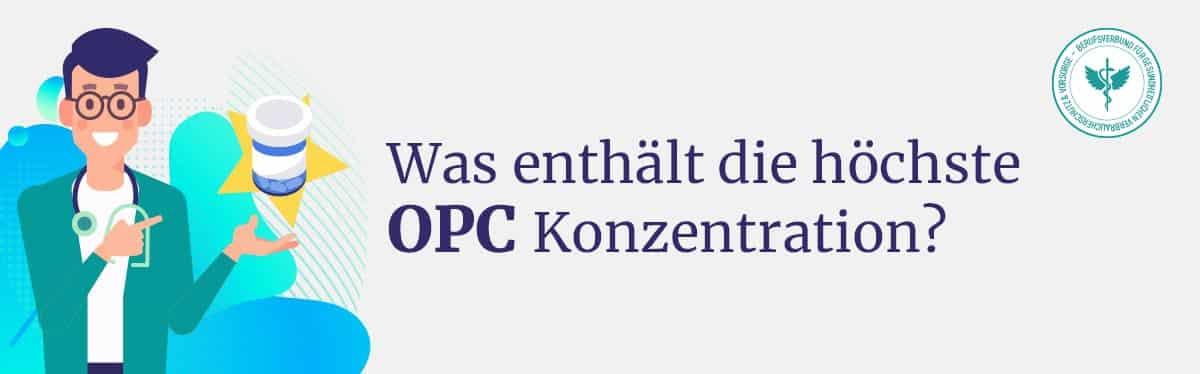 Höchste konzentration von OPC