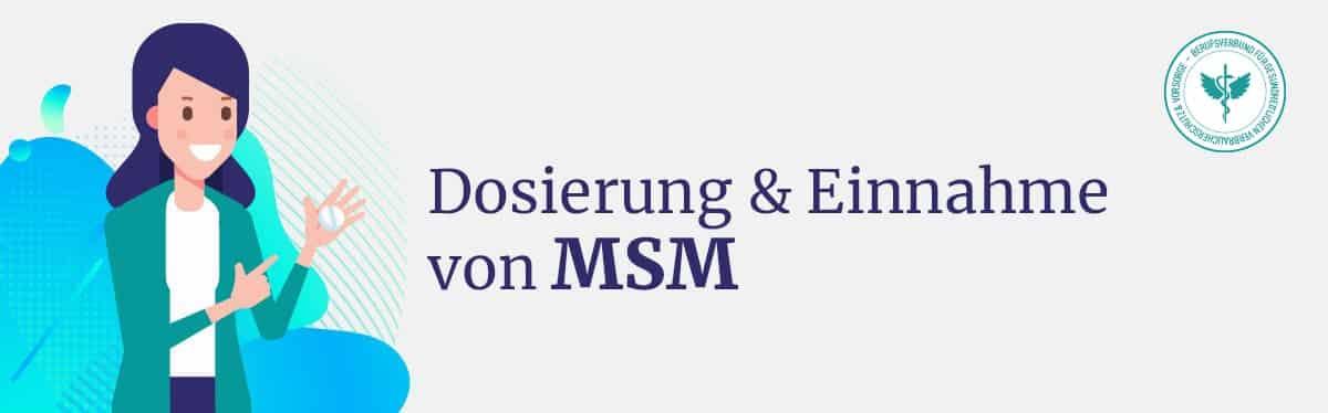 Dosierung und Einnahme MSM