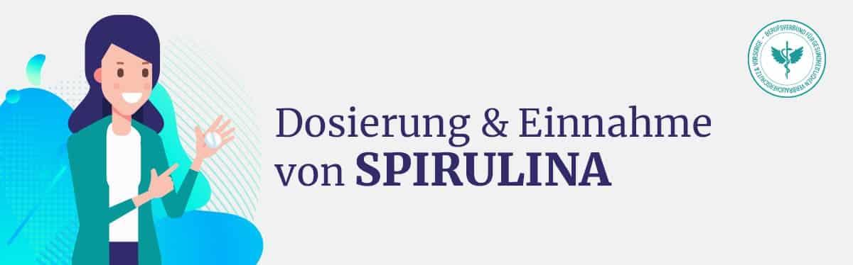 Dosierung und Einnahme Spirulina