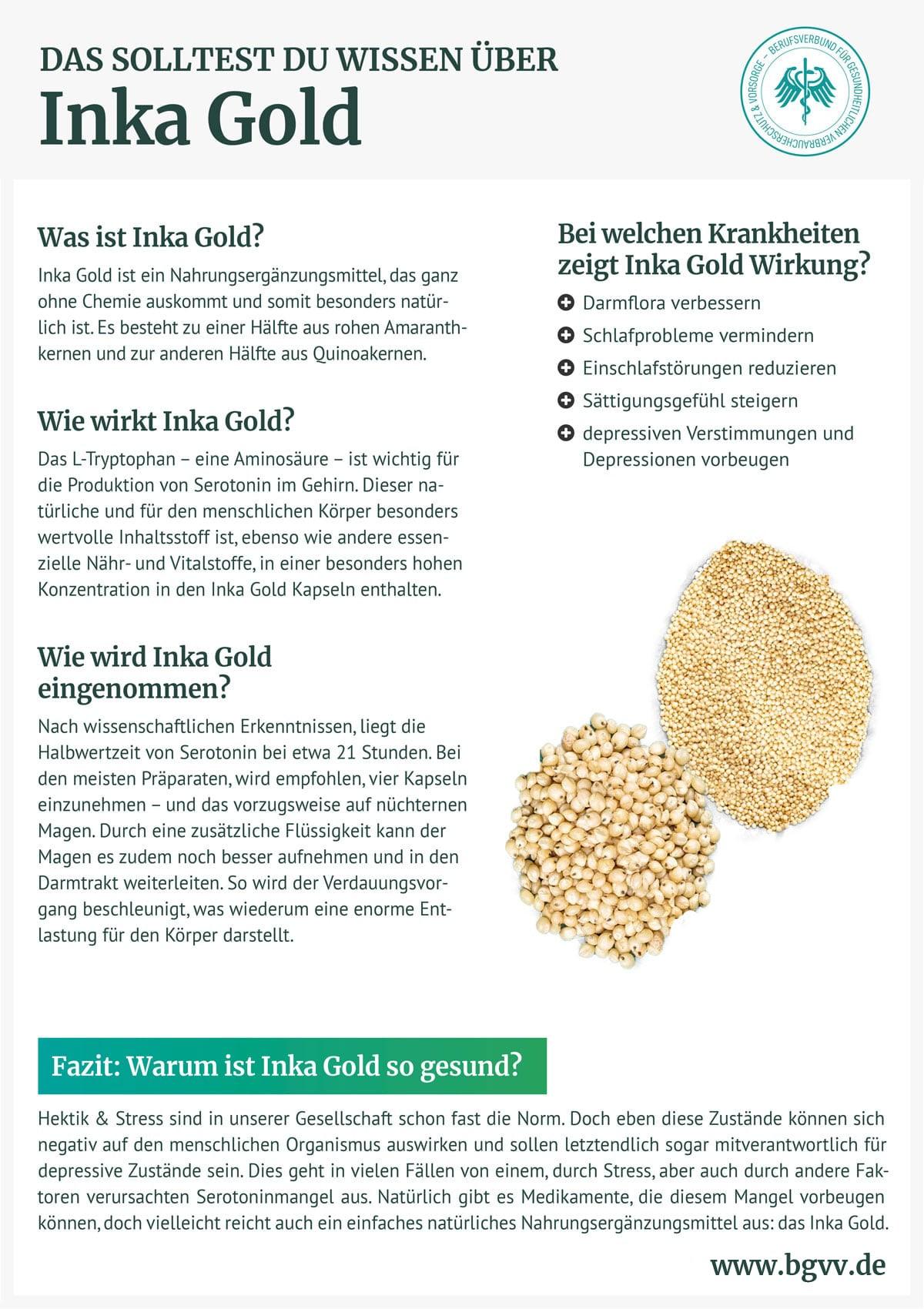 Infografik Inka Gold BGVV